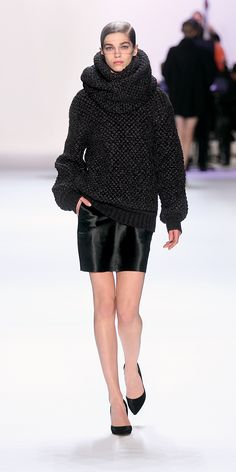 Akris Runway FW2013 | Akris. I would wear big chunky sweaters like this 24/7 in my ideal world!!