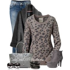 """Leopard Sweater"" by cindycook10 on Polyvore"