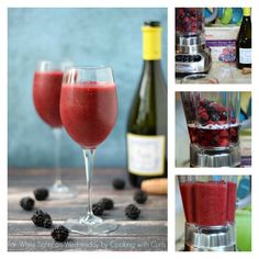 Wine Smoothie Collage | For White Lights on Wednesday by Cooking with Curls