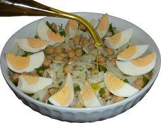 Arroz de Minhoca: Salada de Bacalhau com Grão de Bico