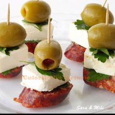 Sausage olives cheese