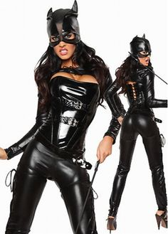 Hot Sexy Five Pieces Set Black Leather Costumes For Catwoman Cosplay with cheap wholesale price, buy Hot Sexy Five Pieces Set Black Leather Costumes For Catwoman Cosplay at wholesaleitonline.com !