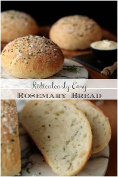 This Ridiculously Easy Rosemary Bread definitely earns its ridiculously easy name but, even better. it's ridiculously delicious! via The Café Sucre Farine recipes backen backen rezepte bread bread bread Bread Machine Recipes, Rosemary Bread Machine Recipe, Rosemary Olive Oil Bread Recipe, Rosemary Recipes, Easy Bread Recipes, Herb Bread, Yummy Food, Tasty, Artisan Bread