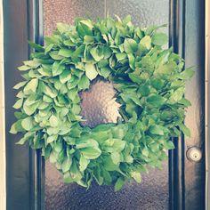 Simple green wreath of salal