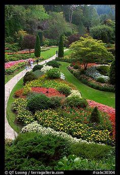 Sunken Garden. Butchart Gardens, Victoria, British Columbia, Canada