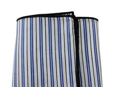 Blue Striped Cotton Pocket Square