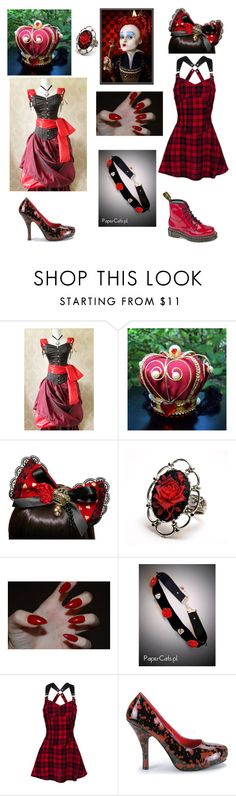 """Off With Your Head! - Tag - Description"" by shadow-cheshire ❤ liked on Polyvore featuring Dr. Martens and Funtasma"