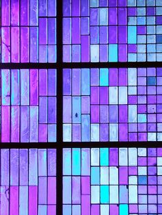 Purple glass tile, vibrant and happy. ~ETS (love this as a backsplash for tub)