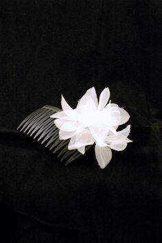 Bridal White Lily Hair Comb