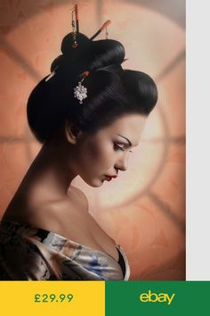 How to Get the Perfect Geisha Look – Simple Makeup Cheats Japanese Tattoo Art, Japanese Art, Art Geisha, Asian Tattoos, Hanging Pictures, Vintage Japanese, Belle Photo, Asian Art, Female Art