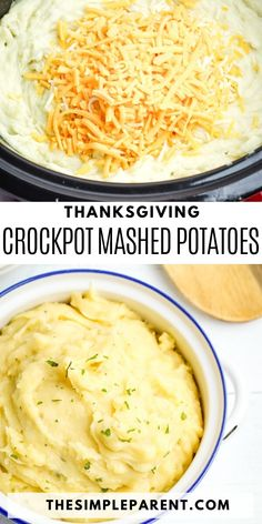 Save time and make your holiday meal easier to prep with help from your Crockpot slow cooker! Make this classic Thanksgiving side dish and while these mashed potatoes cook, you can work on other parts of your meal! Smashed Potatoes Recipe, Easy Mashed Potatoes, Crock Pot Potatoes, Easy Vegetable Side Dishes, Potato Side Dishes, Potato Recipes Crockpot, Thanksgiving Recipes Crockpot, Crockpot Meals, Vegetable Slow Cooker