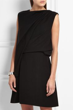 Black crepe Concealed zip fastening along side 100% polyester Dry clean  Imported