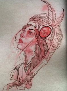Girl tattoo design • Visit artskillus.ru for more tattoo ideas