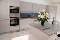 handleless cashmere gloss kitchen - Google Search                                                                                                                                                                                 More