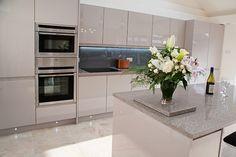 handleless cashmere gloss kitchen - Google Search                                                                                                                                                                                 More