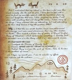 Gravity Falls: Journal 3 is the official real-life canon Journal containing… Libro Gravity Falls, Gravity Falls Book, Gravity Falls Journal, Journal 3, Journal Pages, Grabity Falls, Fallen Series, Monster Book Of Monsters, Dipper And Mabel