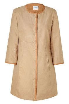 STEFFEN SCHRAUT  Frappe coat with leather trim