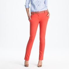 My favorite coral pants this season. Love it with a chambray shirt! $79.50 petite, tall, regular