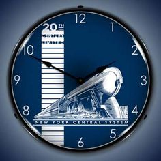 Art Deco Train Clock: New York Central System