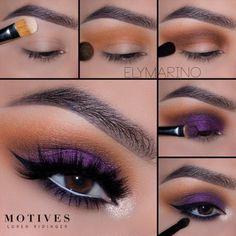 Gorgeous Makeup: Tips and Tricks With Eye Makeup and Eyeshadow – Makeup Design Ideas Natural Eye Makeup, Eye Makeup Tips, Makeup For Brown Eyes, Makeup Goals, Skin Makeup, Makeup Ideas, Makeup Hacks, Purple Eyeshadow, Eyeshadow Looks