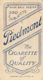1909-11 The American Tobacco Company T206 White Border #396 Phil Poland Back