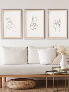 Set of 3 print, Hands Line Art, Minimalist Line Drawing , Above Bed Decor, Minimalist Print, Continuous Line  Printable art is an easy and affordable way to decorate your home or office. You can print at home, at your local print shop, or upload the files to an on-line printing service and have your prints delivered to your door!