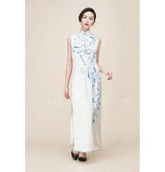 white cheongsam