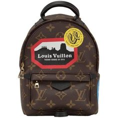 "Preowned Louis Vuitton Palm Springs ""world Tour"" Backpack Mini ($2,650) ❤ liked on Polyvore featuring bags, backpacks, multiple, leather backpack, logo backpacks, leather rucksack, louis vuitton and mini backpack"