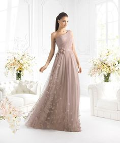 2014 Long One Shoulder Evening Party Formal Cocktail Prom Dresses Wedding Gown