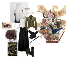"""Morgana Grindelwald, Fantastic Beasts"" by optimismflower ❤ liked on Polyvore featuring Jay Ahr, Willow & Clay, Jessica de Lotz Jewellery and Accessorize"