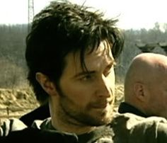Scruffy Richard at Robin Hood boot camp.  Archery.  The full shot is lovely, too.