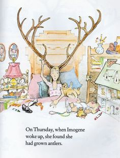 "Instant classic. David Small's ""Imogene's Antlers""."