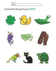 Preschool Worksheets 3 Year Olds | Color Identification for Preschoolers