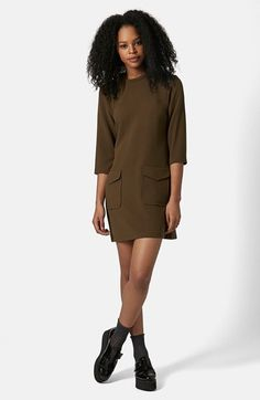 Topshop Utility Pocket Tunic Dress available at #Nordstrom