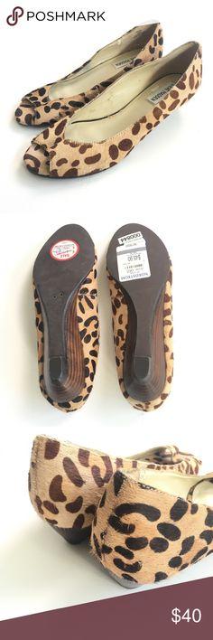 Steve Madden Leopard Print Open Toe Bunnel Heels Brand new, but tried on at store. C84 Steve Madden Shoes Heels