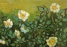 (Netherlands) Wild roses by Vincent van Gogh (1853- 1890). Oil on canvas.