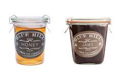 Hudson Valley honey, 5.4 oz. ($8.50), and assorted seasonal jams, 9 oz. ($14), by Blue Hill Farm
