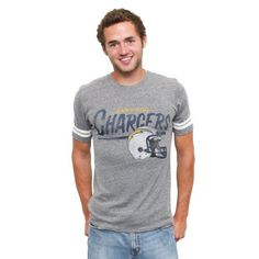 79959aefe NFL San Diego Chargers Throwback Stripe T-Shirt by Junk Food.  15.20 San  Diego