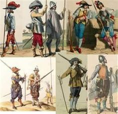 Armies and how they dressed in armour in the 30 years war.