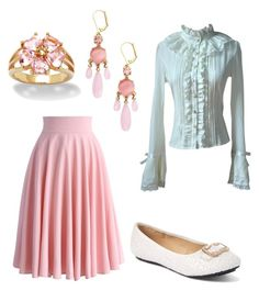 """spring"" by liniki on Polyvore featuring Kate Spade, Chicwish, Palm Beach Jewelry and 1 ONE"