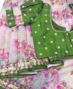 Images for Blouse Designs Kids Blouse Designs, Simple Blouse Designs, Silk Saree Blouse Designs, Stylish Blouse Design, Designer Blouse Patterns, Designer Dresses, Design Floral, Printer, Instagram