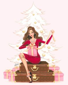 Christmas comes is all shapes and sizes! Merry Christmas, Christmas And New Year, Christmas Time, Xmas, Illustration Noel, Christmas Illustration, Travel Illustration, Arte Fashion, Megan Hess