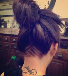 Frisuren Haarschnitt Frauen Rasiert Undercut Designs Ideen Why we Need to Take Risks It does not Shaved Undercut, Undercut Long Hair, Undercut Women, Undercut Hairstyles Women, Undercut Pixie, Bob With Undercut, Undercut Girl, Updo Hairstyle, Undercut Hair Designs