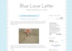 Blogger Candy - Free Blogger + Blogspot templates: Blue Love Letter