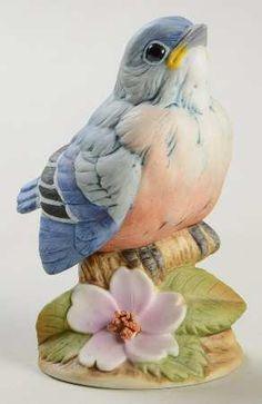 Sadek Baby Bluebird Porcelain Figurine