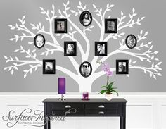 Wall decals  Family tree wall decal  Photo tree by SurfaceInspired, $125.00