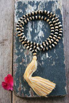 Beautiful faceted agate japa mala necklace - look4treasures, $67.95
