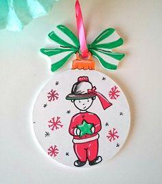 """NOUVEAU Décoration de Noël / Boule de Noël """"le breton"""" blanc rouge vert : Accessoires de maison par milid"""