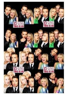 Liam with family and friends in the This Is Us photo booth!