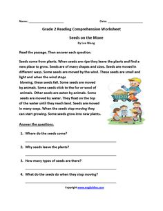 Seeds On Move Second Grade Reading Worksheets Reading Comprehension images ideas from Best Worksheets Collection 2nd Grade Reading Worksheets, English Worksheets For Kids, Phonics Reading, English Activities, Picture Comprehension, Reading Comprehension Strategies, Second Grade, Grade 2, Reading Skills